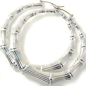ICED OUT - Bamboo Hoops earrings 7cm