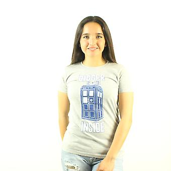 Doctor Who Bigger on the Inside Junior's Grey T-shirt