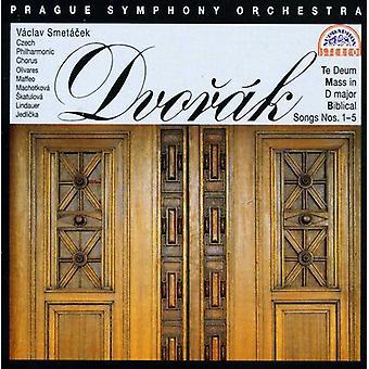 A. Dvorak - Dvor K: Te Deum; Misa en re mayor; Importación de bíblico canciones núms. 1-5 [CD] Estados Unidos
