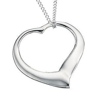 925 sølv hjerte halskæde