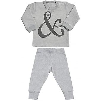 Spoilt Rotten And What Sweatshirt & Jersey Trousers Baby Outfit Set