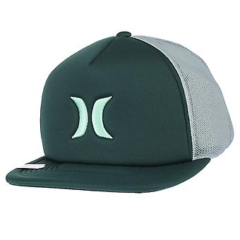 Hurley Flat-peak Trucker Snapback Cap ~ Blocked 3.0 green