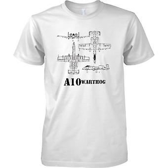 A-10 Warthog Schematic - Tankbuster - Mens T Shirt