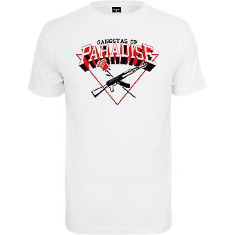 Mister tee shirt - Gangstas of paradise white