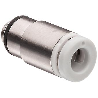 SMC Pneumatic Straight Threaded-To-Tube Adapter, M5 X 0.8 Male, Push In 6 Mm