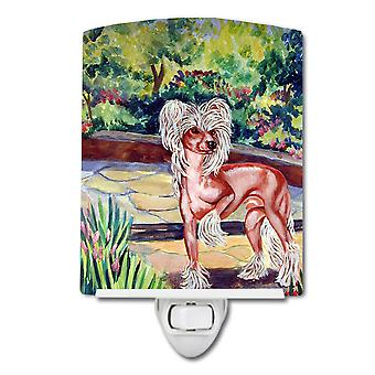 Carolines Treasures  7021CNL Chinese Crested on the Patio Ceramic Night Light