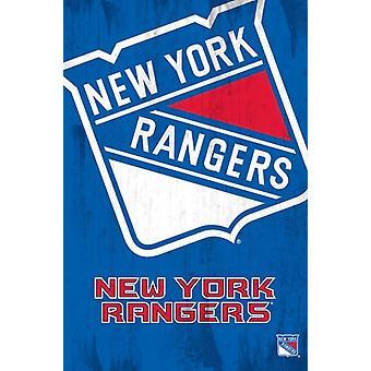 NY Rangers - Logo Poster Poster Print
