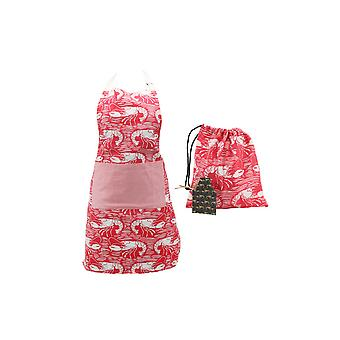 CGB Giftware Harbour Red Lobster Apron and Bag