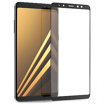 A8 de Samsung Galaxy Plus Protector de pantalla de vidrio (2018) - borde negro