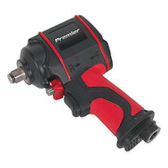 Sealey Sa6002S Air Impact Wrench 1/2In Sq Drive Stubby Twin Hammer