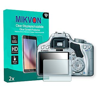 Canon EOS Kiss X2 Screen Protector - Mikvon Clear (Retail Package with accessories)