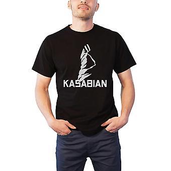 Kasabian T Shirt band logo Ultra ansigt Tour 2004 nye officielle Herre sort