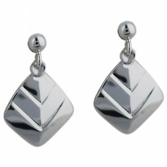 Silver 20x13mm plain Chevron Earring droppers