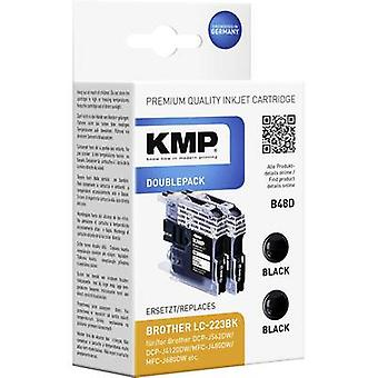 KMP Ink set replaced Brother LC-223BK Compatible Pack of 2