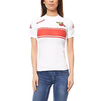 Kappa Lady cotton Kombat Abarth ladies shirt T-Shirt white 301ZUG0 901