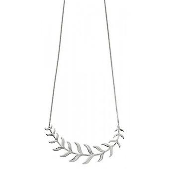 Elements Silver Fish Bone Necklace - Silver