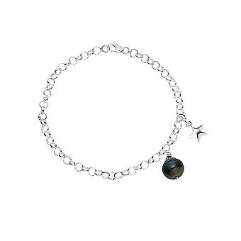 Pearl of Tahiti and star Sterling 925 silver bracelet