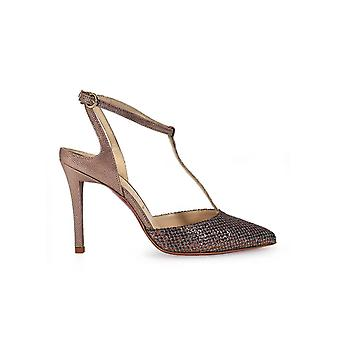 FRANCO COLLI LAMINATED HIGH-HEELED SANDAL