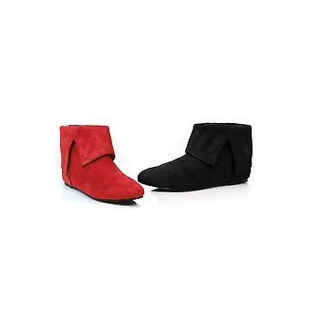 Ellie Shoes E-015-QUINN 0 Womens Microfiber Boot.(Black-Left Red-Right)   Blk-Left Red-Right