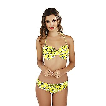 Boutique Ladies Lemon Print Bikini Set