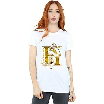 Harry Potter Women's Hufflepuff Badger Boyfriend Fit T-Shirt