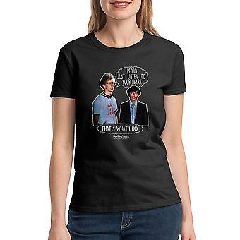 Napoleon Dynamite Lyt til dit hjerte kvinder sort Funny T-shirt