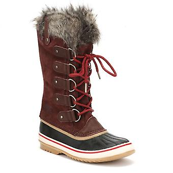 Sorel Womens Redwood / Red Element Joan Of Arctic Boots