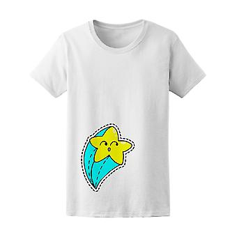 Surprised Shooting Star Comic Tee Women's -Image by Shutterstock