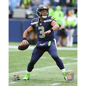 Russell Wilson 2017 Action Photo Print