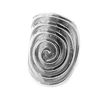 Greek Spira Eternity Pattern Ring In Rhodium Plated Sterling Silver