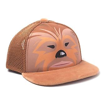 Star Wars Kids Chewbacca Face Trucker Cap Orange (TC303451STW)