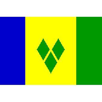 St. Vincent & Grenadine 5ft x 3ft With Eyelets