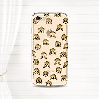 Monkeys-Transparent TPU shell for iPhone (7)