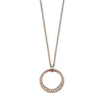 ESPRIT collection ladies chain necklace silver Rosé Delia ELNL92698C420