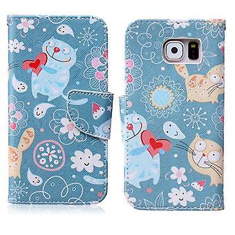Schutzhülle Wallet Muster 63 für Samsung Galaxy S6 G920 G920F