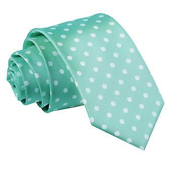 Mint Green Polka Dot Slim Tie