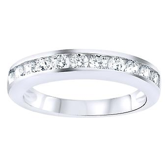 Sterling 925 zilver pave ring - CZ BAND