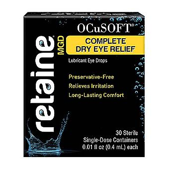 Ocusoft Retainemgd Complete Dry Eye Relief Single-dose Lubricant, 30 Ea