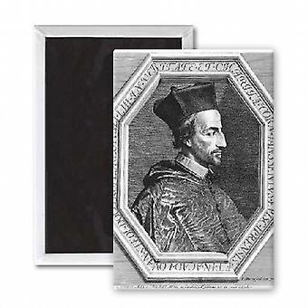 Cornelius Jansen, Bishop of Ypres (etching).. - 3x2 inch Fridge Magnet - large magnetic button