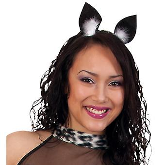 Cat ears with marabou feathers animal costume accessory cat