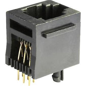 Modulare montierten Socket Socket, senkrechte vertikale MEB6/6PST schwarz Econ verbinden MEB6/6PST 1 PC
