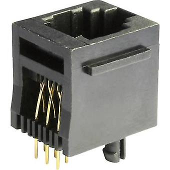 Modulära monterade socket Socket, vertikal vertikal MEB6/6PST svart econ ansluta MEB6/6PST 1 dator