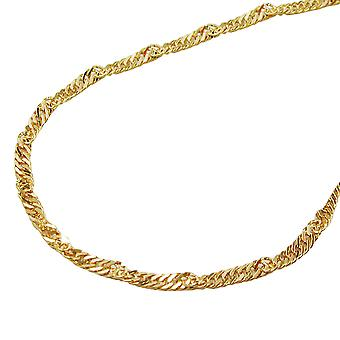 Chain 45 cm 1, 4 mm Singapore chain 9Kt GOLD