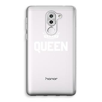 Honor 6X Transparent Case (Soft) - Queen black