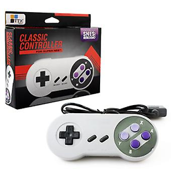 TTX Tech Classic Controller for Super Nintendo SNES - Grey