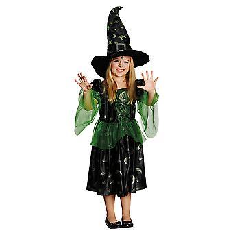 Magierin Zauberin Kleid Kostüm für Kinder