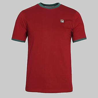 Fila Vintage Marconi Ringer T-Shirt Tibetan Red