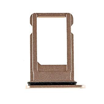 Vassoio di carta SIM oro con guarnizione impermeabile per iPhone 8