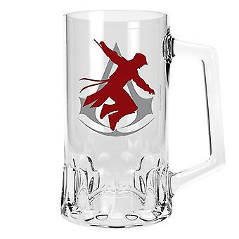 Creed verre Chope forme transparent, verre à bière assassin, capacité environ 500 ml.