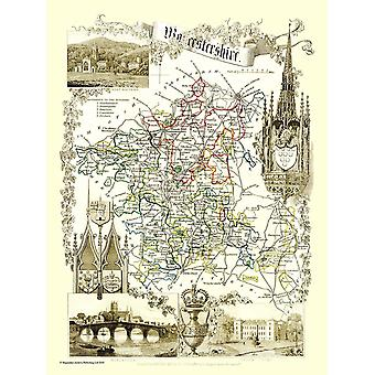 Old Map of Worcestershire 1836 by Thomas Moule 1000 Piece Jigsaw Puzzle (jhg)
